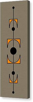 Mobile 1 In Orange Canvas Print by Donna Mibus