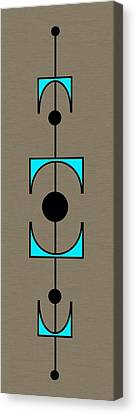 Mobile 1 In Turquoise Canvas Print by Donna Mibus
