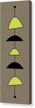 Mobile 2 In Green Canvas Print by Donna Mibus