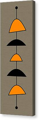 Mobile 2 In Orange Canvas Print by Donna Mibus