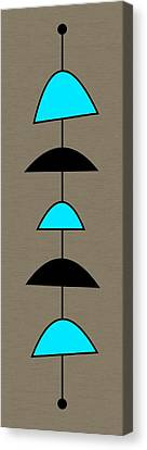 Mobile 2 In Turquoise Canvas Print by Donna Mibus