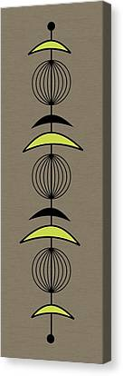 Mobile 3 In Green Canvas Print by Donna Mibus