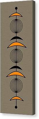 Mobile 3 In Orange Canvas Print by Donna Mibus