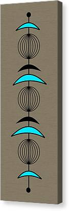 Mobile 3 In Turquoise Canvas Print by Donna Mibus