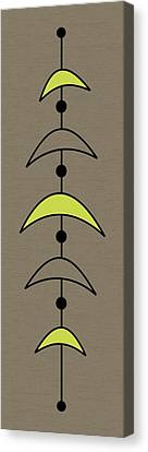 Mobile 4 In Green Canvas Print by Donna Mibus