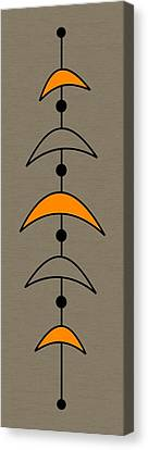 Mobile 4 In Orange Canvas Print by Donna Mibus