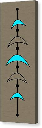 Mobile 4 In Turquoise Canvas Print by Donna Mibus