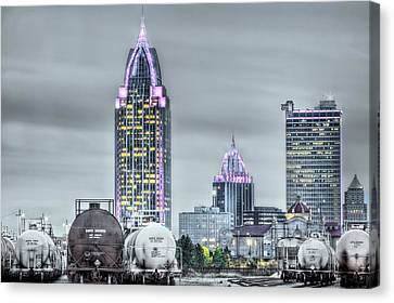 Mobile At Night Canvas Print