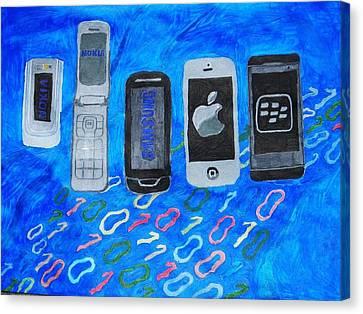 Mobile Evolution Canvas Print by Melissa Nowacki