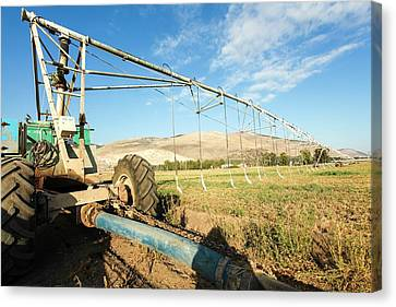 Farm System Canvas Print - Mobile Irrigation Robot by Photostock-israel