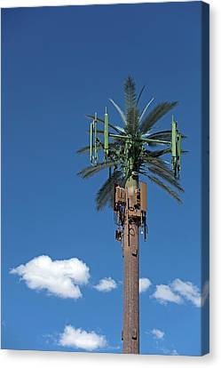 Aesthetic Canvas Print - Mobile Phone Communications Tower by Jim West