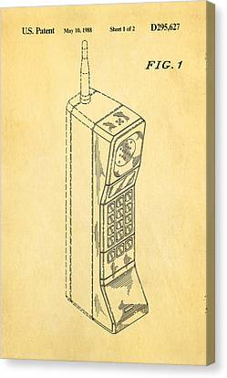 Mobile Phone Patent Art 1988 Canvas Print by Ian Monk