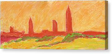 Mobile Skyline Early Summer Morning Canvas Print