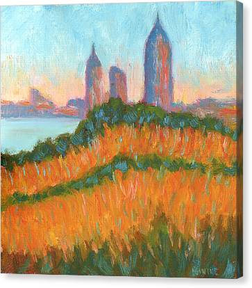 Mobile Skyline From Felixs Canvas Print