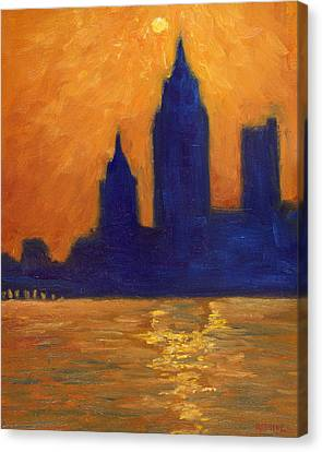 Mobile Skyline Late Evening Canvas Print