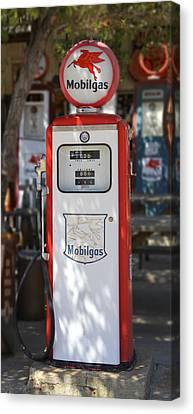 Mobilgas - Tokheim Gas Pump Canvas Print by Mike McGlothlen