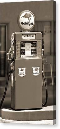 Mobilgas - Wayne Double Gas Pump 2 Canvas Print by Mike McGlothlen