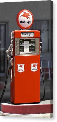 Mobilgas - Wayne Double Gas Pump Canvas Print by Mike McGlothlen