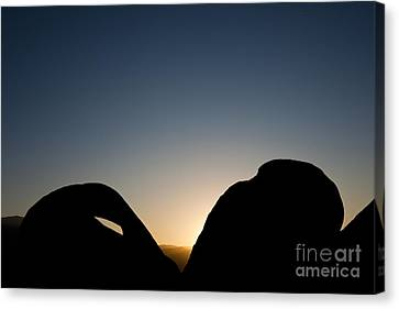 Mobius Arch At Night, Alabama Hills Canvas Print by John Shaw
