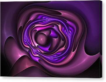 Mobius Field Generator Fractal Blue Canvas Print by Doug Morgan