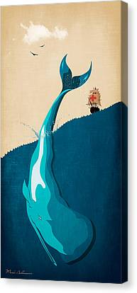Scary Canvas Print - Moby Dick 2 by Mark Ashkenazi