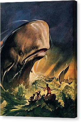 Moby Dick Canvas Print by James Edwin McConnell
