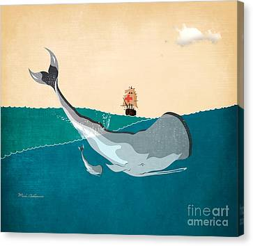 Caricature Canvas Print - Moby by Mark Ashkenazi