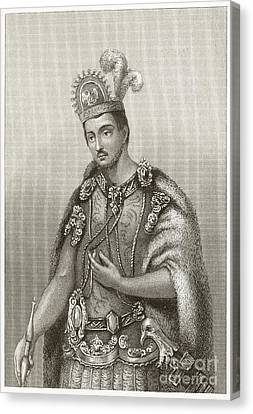 Conquistadores Canvas Print - Moctezuma II, Aztec Emperor by Middle Temple Library