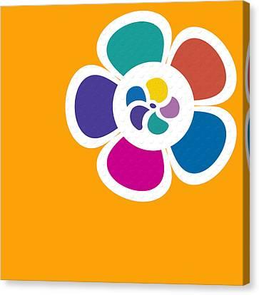 Mod Flower No.3 Canvas Print by Bonnie Bruno