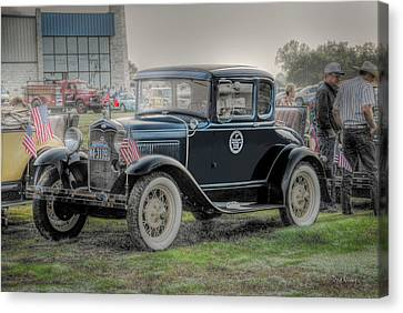 Canvas Print featuring the photograph Model A Ford  by Dyle   Warren