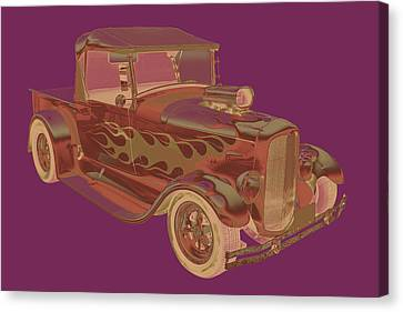 Model A Ford Pickup Hot Rod Pop Image Canvas Print by Keith Webber Jr