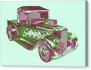 Model A Ford Pickup Hotrod. Canvas Print by Keith Webber Jr