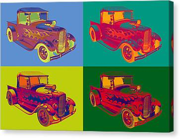 Model A Ford Pickup Hotrod Pop Art. Canvas Print by Keith Webber Jr