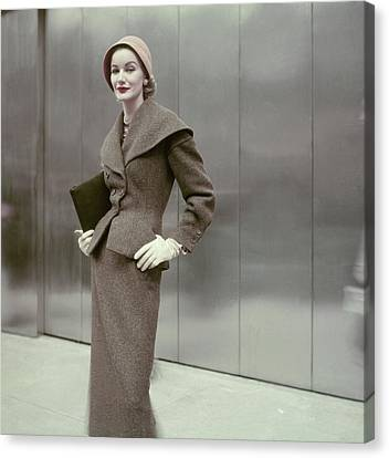 Clutch Bag Canvas Print - Model In A Suit By Dan Millstein by Frances McLaughlin-Gill