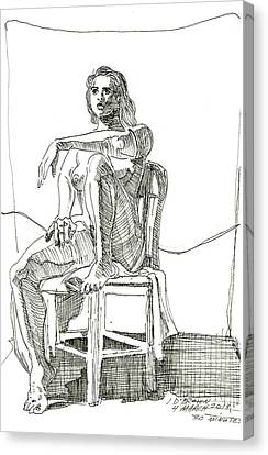 Model In Chair Canvas Print