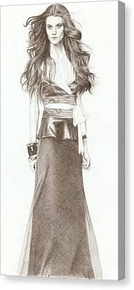 Model Canvas Print by Nur Adlina