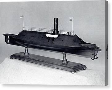 Model Of Ironclad Warship Css Virginia Canvas Print