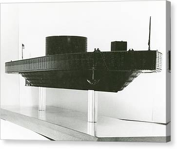 Model Of Ironclad Warship Uss Monitor Canvas Print