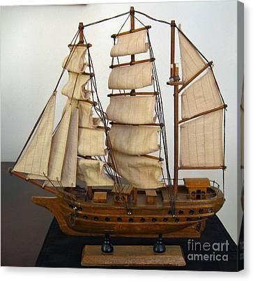 Model Sailing Ship Canvas Print
