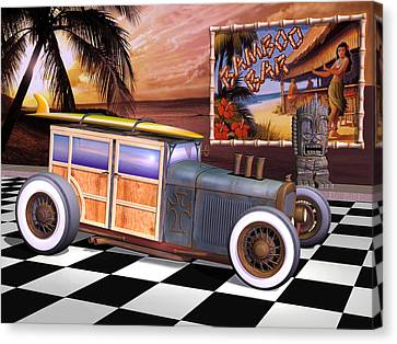 Model T Surf Woody Canvas Print by Stuart Swartz