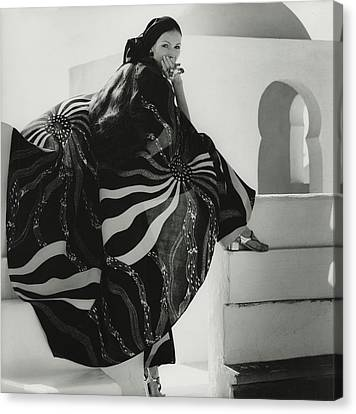 Lino Canvas Print - Model Wearing A Lino Cape by Henry Clarke