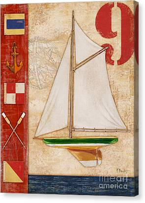 Toy Boat Canvas Print - Model Yacht Collage I by Paul Brent