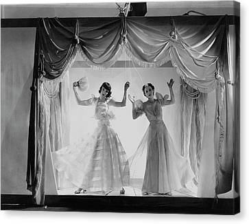 Models As Marionettes Canvas Print