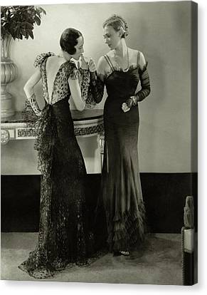 Models In Evening Gowns Canvas Print by Edward Steichen