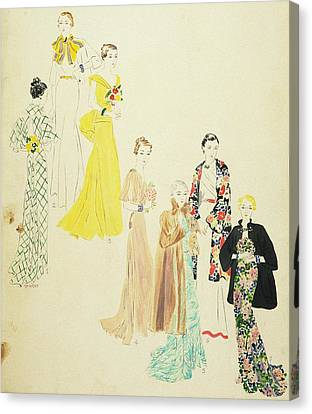 Models Wearing Jay-thorpe And Lillian Sloane Canvas Print by Harriet Meserole