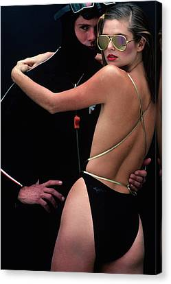 Models Wearing Swimwear Canvas Print by Jacques Malignon
