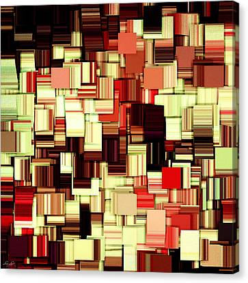Modern Abstract Art Xvii Canvas Print by Lourry Legarde