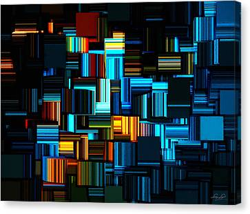 Modern Abstract V Canvas Print by Lourry Legarde