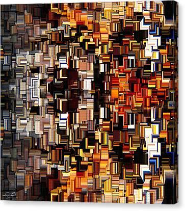 Modern Abstract Xxvii Canvas Print by Lourry Legarde