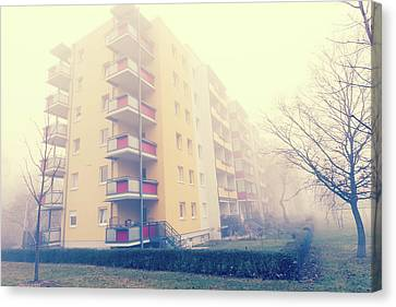 Modern Apartment Blocks Canvas Print